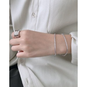 GABRIELLA Silver Chain Bracelet