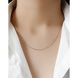 BAR CHAIN Sterling Silver Necklace