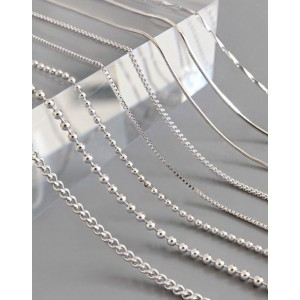 CABLE CHAIN Sterling Silver Necklace
