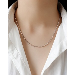BEAD CHAIN Sterling Silver Necklace