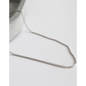 BOX CHAIN Sterling Silver Necklace