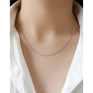 CURB CHAIN Sterling Silver Necklace
