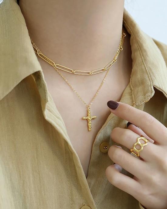 CLEMENCE Gold Vermeil Paperclip Choker
