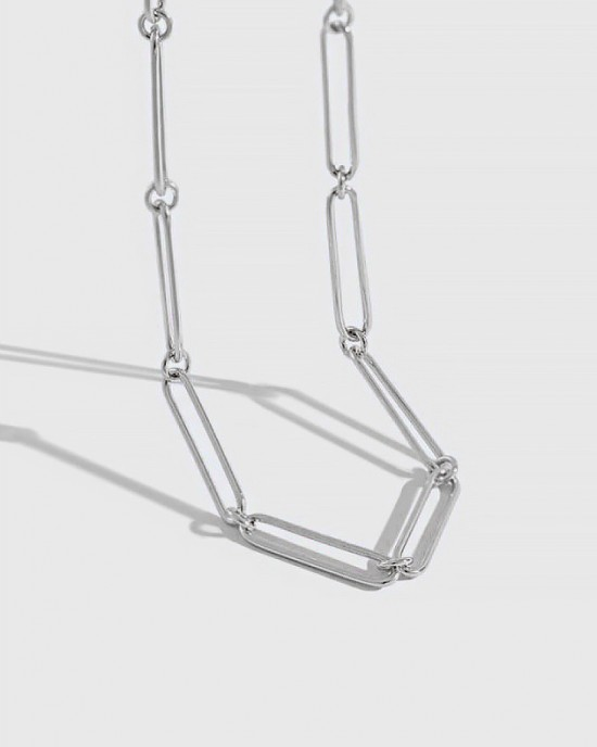 CLEMENCE Sterling Silver Paperclip Choker