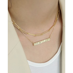 CLARENCE Gold Vermeil Paperclip Choker