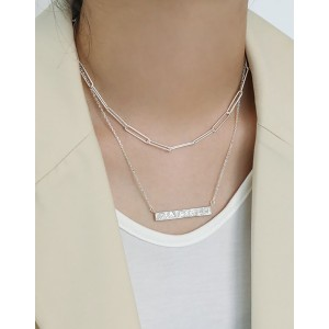 CLARENCE Sterling Silver Paperclip Choker