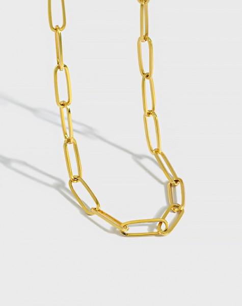 CONSTANCE Gold Vermeil Paperclip Choker | Large