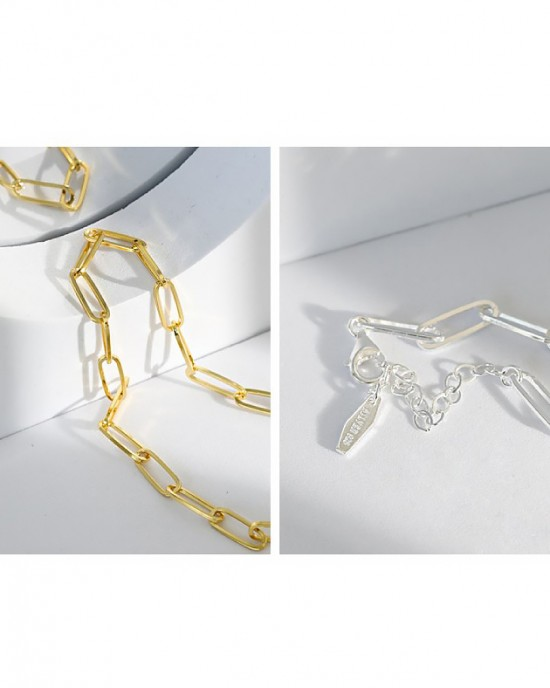 CONSTANCE Gold Vermeil Paperclip Choker