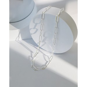 CONSTANCE Sterling Silver Paperclip Choker | Large