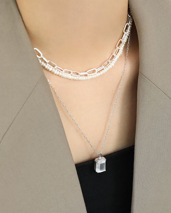 CONSTANCE Sterling Silver Paperclip Choker | Small