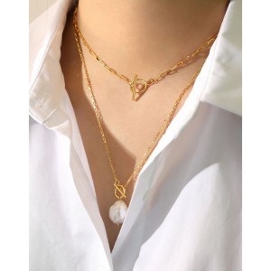 FlORENCE Gold Vermeil Paperclip Choker