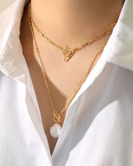FlORENCE Gold Vermeil Paperclip Choker
