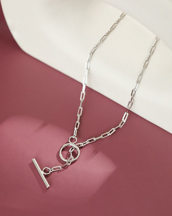 FlORENCE Sterling Silver Paperclip Choker