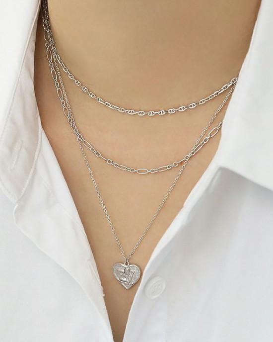 PRISCILLA Sterling Silver Link Chain