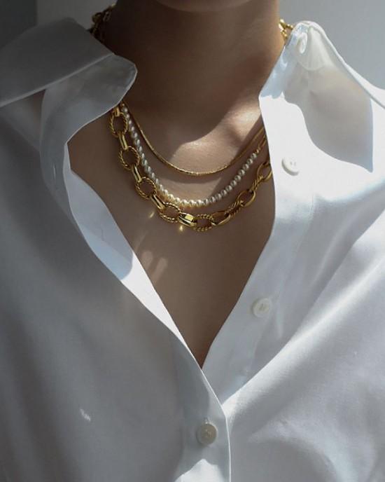 IVANNA Gold Rolo Choker