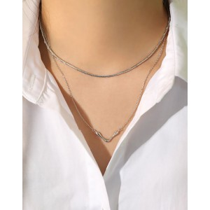 LYDIA Sterling Silver Snake Chain