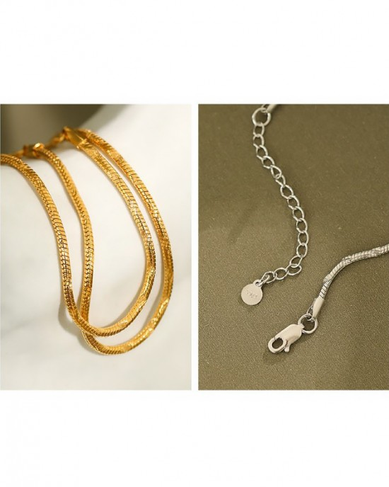 LYDIA Gold Vermeil Snake Chain