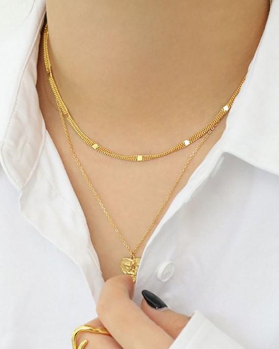 MIRIAM Gold Vermeil Double Chain Choker