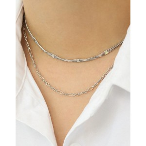 MIRIAM Sterling Silver Double Chain Choker