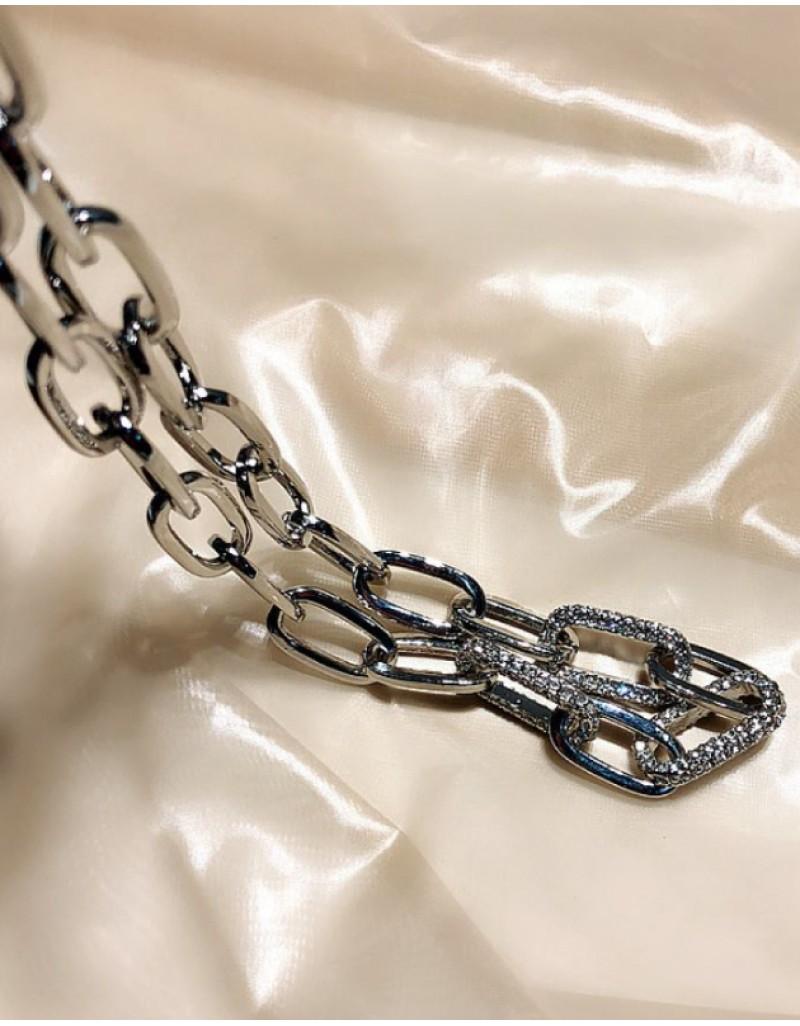 NAOMI Cubic Zirconia Chain Choker