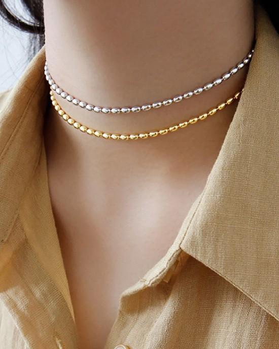 SABRINA Sterling Silver Bead Chain