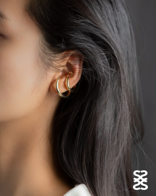 ALEXA Gold Suspender Ear Cuff Set