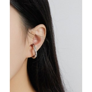 ALEXA Silver Suspender Ear Cuff Set