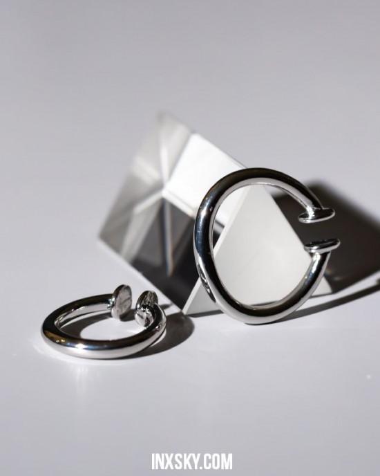 ALEXA Silver Suspender Ear Cuff Set