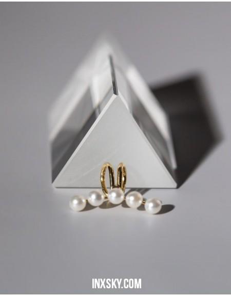 ARIEL Gold Pearl Ear Cuff