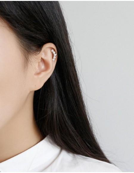 ARIEL Silver Pearl Ear Cuff