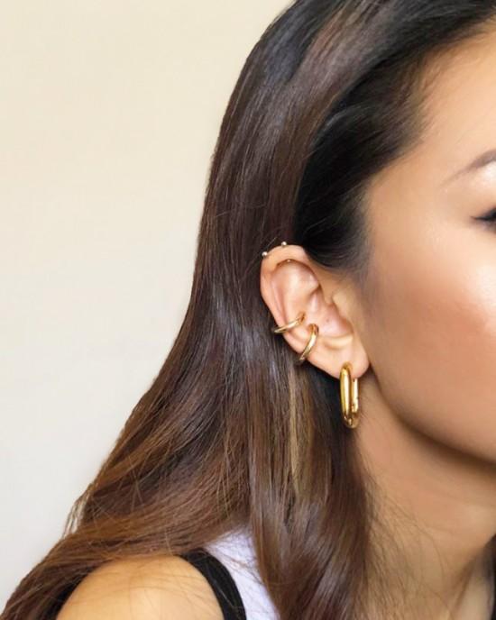 BIANCA Gold Ear Cuff Set