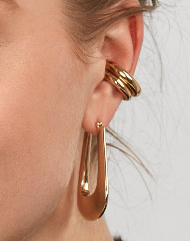 BIANCA Gold Ear Cuff Set
