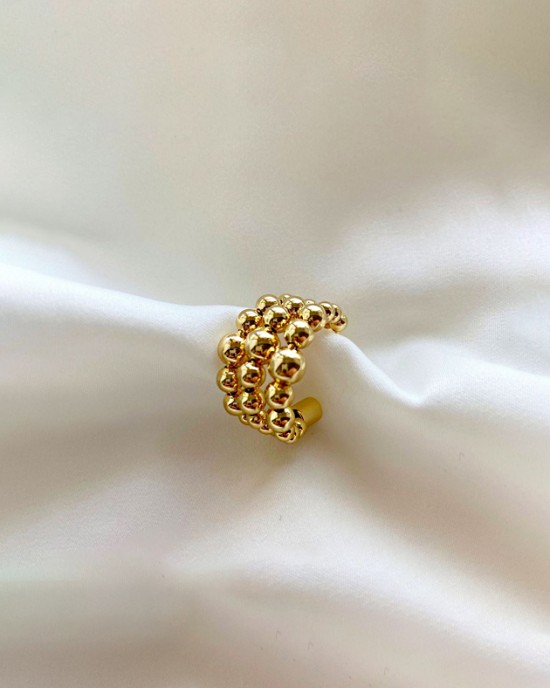 CECILE Gold Triple Ear Cuff