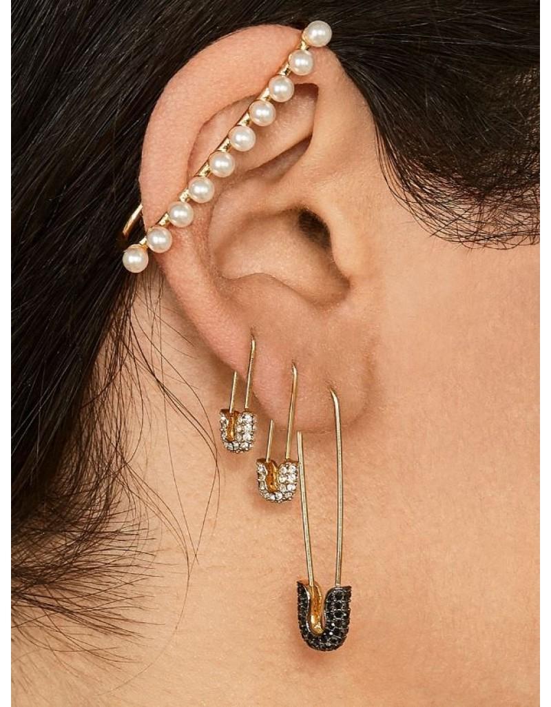 DONNA Elongated Pearl Ear Cuff
