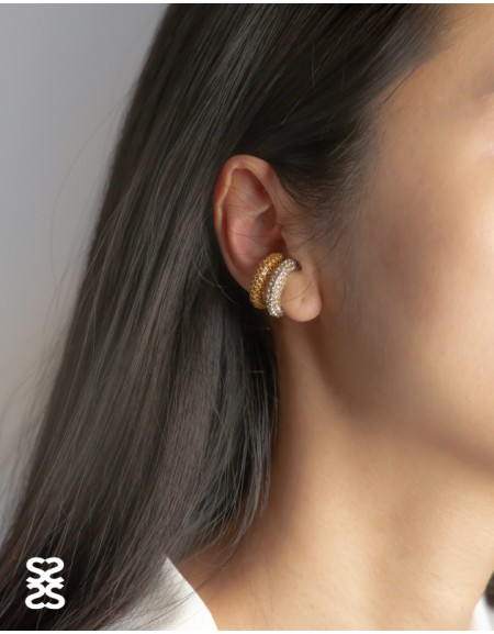 EMILIE White Cubic Zirconia Ear Cuff