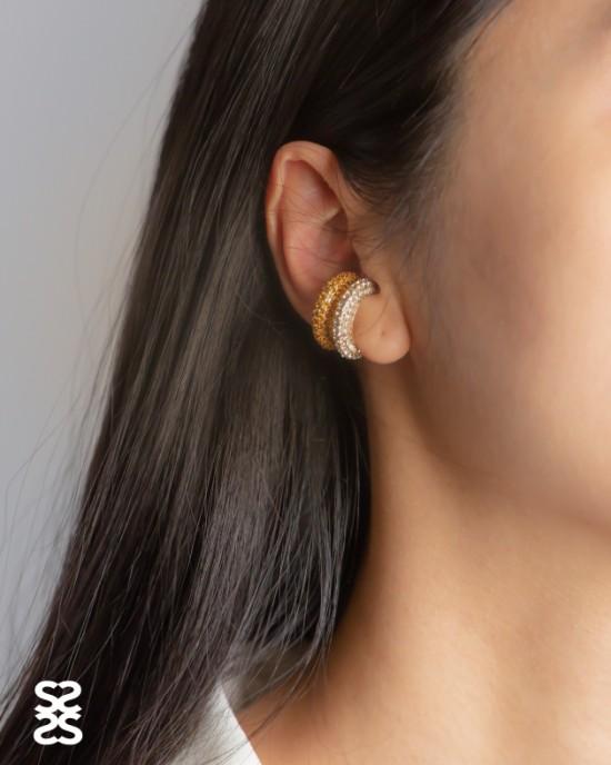 EMILIE Yellow Cubic Zirconia Ear Cuff