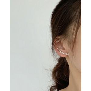 EMMA Gold Pearl CZ Ear Climber