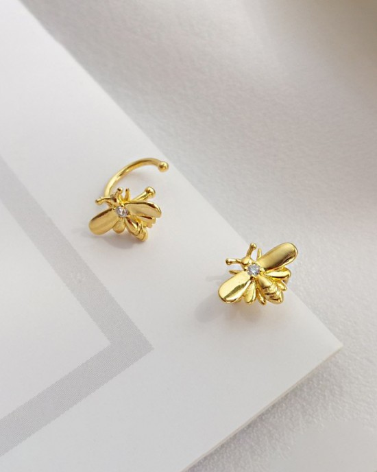 HONEY BEE Gold Vermeil Ear Cuff