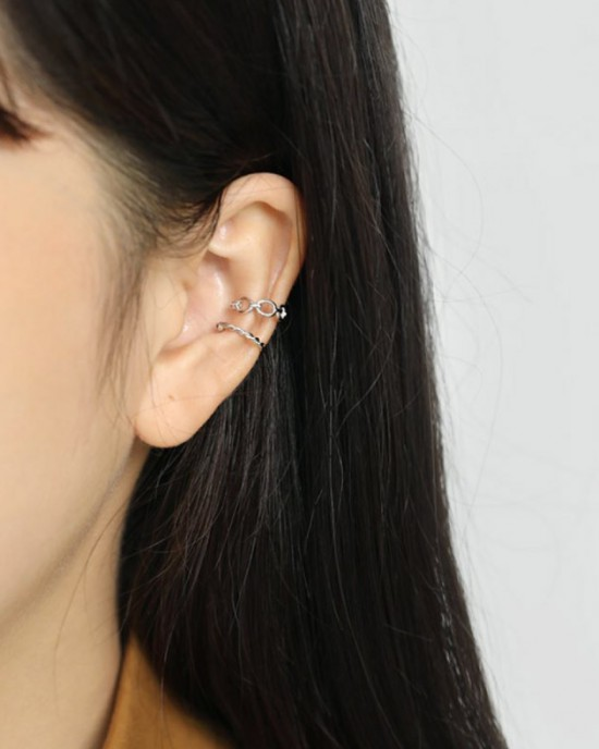 KAREN Sterling Silver Ear Cuff