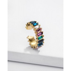 LOLITA Rainbow Glass Stones Ear Cuff