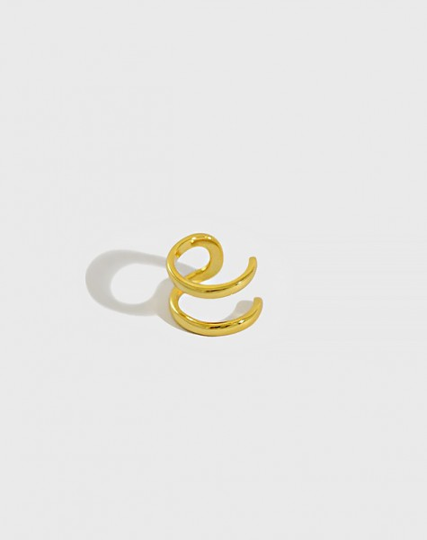 LUCIE Gold Double Ear Cuff
