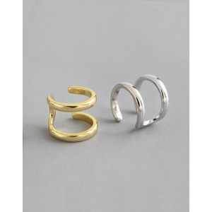 LUCIE Sterling Silver Double Ear Cuff