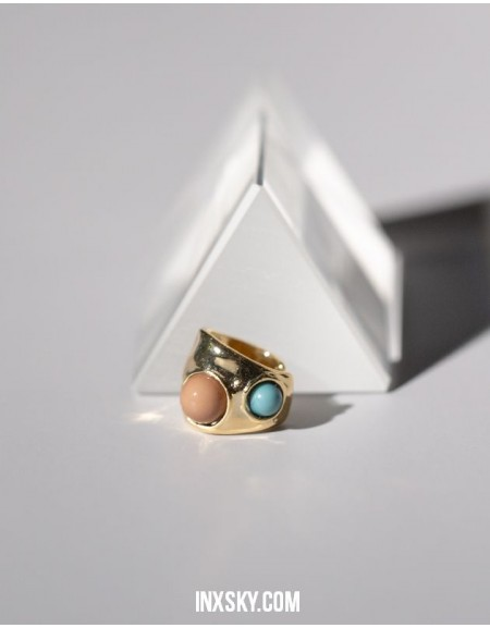 MANON Gold Turquoise Ear Cuff