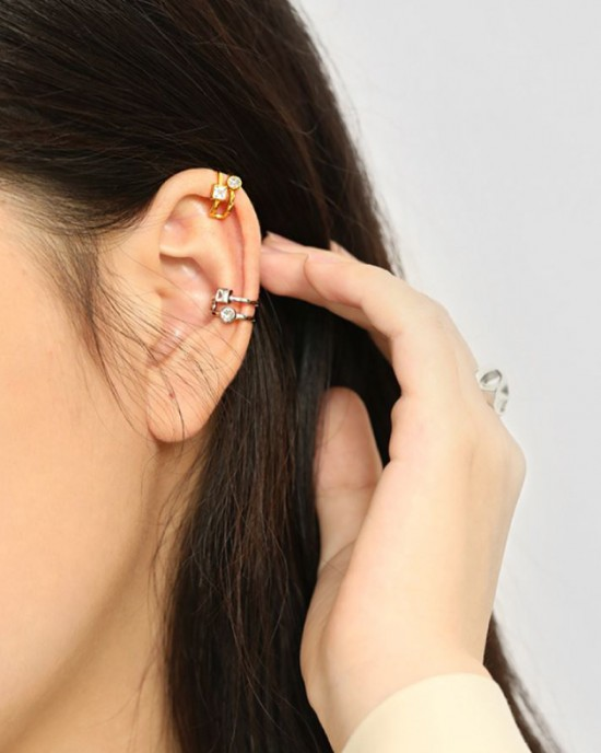 NADIA Gold Vermeil Double Ear Cuff
