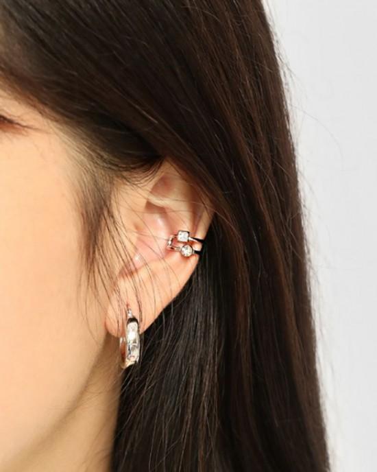 NADIA Sterling Silver Double Ear Cuff