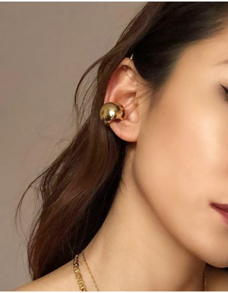 VICKIE Gold Chunky Ear Cuff