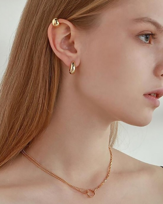 VICKIE Gold Ear Cuff | Small Size