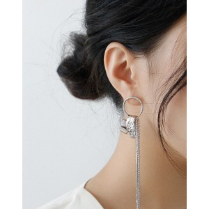 ADELE Silver Long Drop Earring