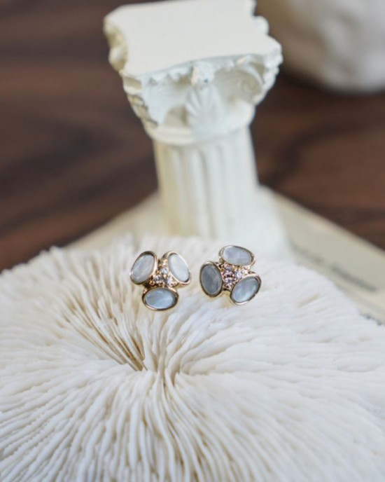 AMELIA Earrings | Greyish Blue