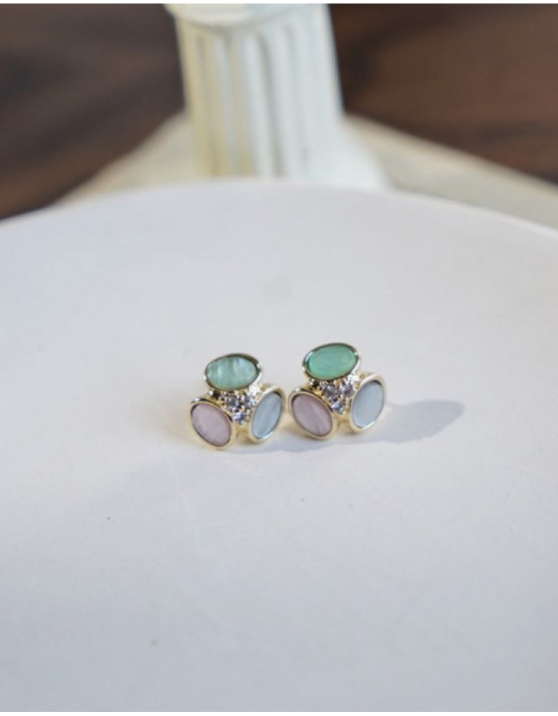AMELIA Earrings | Pinky Green